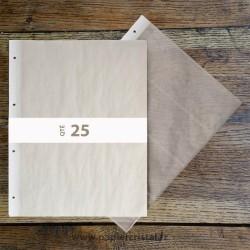 Feuillets archivage en papier cristal pour negatifs 120