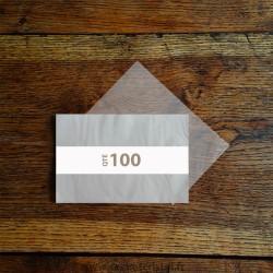 Feuilles pour savon en papier cristal 120 x 180 mm