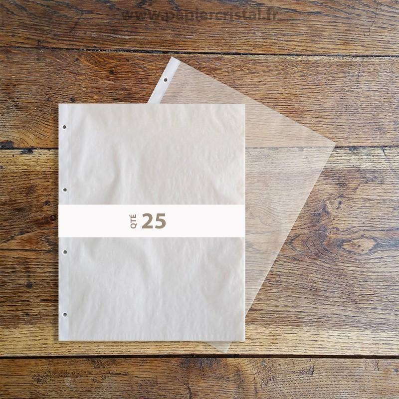 Pochettes cristal perforées A4 en 233 x 305 mm