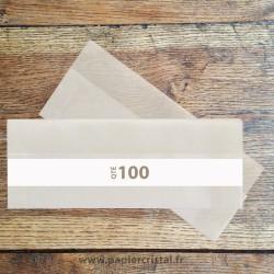 Pochettes archivage en papier cristal pour negatifs 120