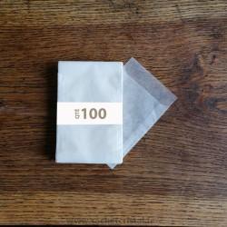 Sachets Cristal 75 x 102 rabat 16 mm