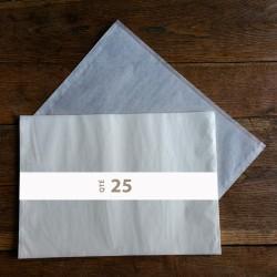 Pochettes cristal 460 x 355 rabat 10 mm