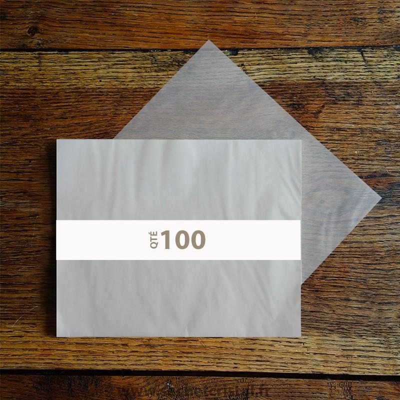 Feuilles papier cristal couleur 104 x 295 mm