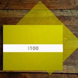 Feuilles papier cristal couleur jaune A3 297 x 420 mm