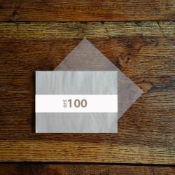 Feuilles papier cristal A5 148 x 210 mm