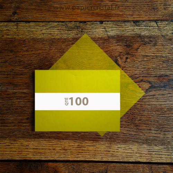 Feuilles papier cristal couleur jaune A5 148 x 210 mm