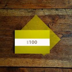 Feuilles semi-transparentes pour savon artisanal en papier cristal couleur jaune 120 x 180 mm