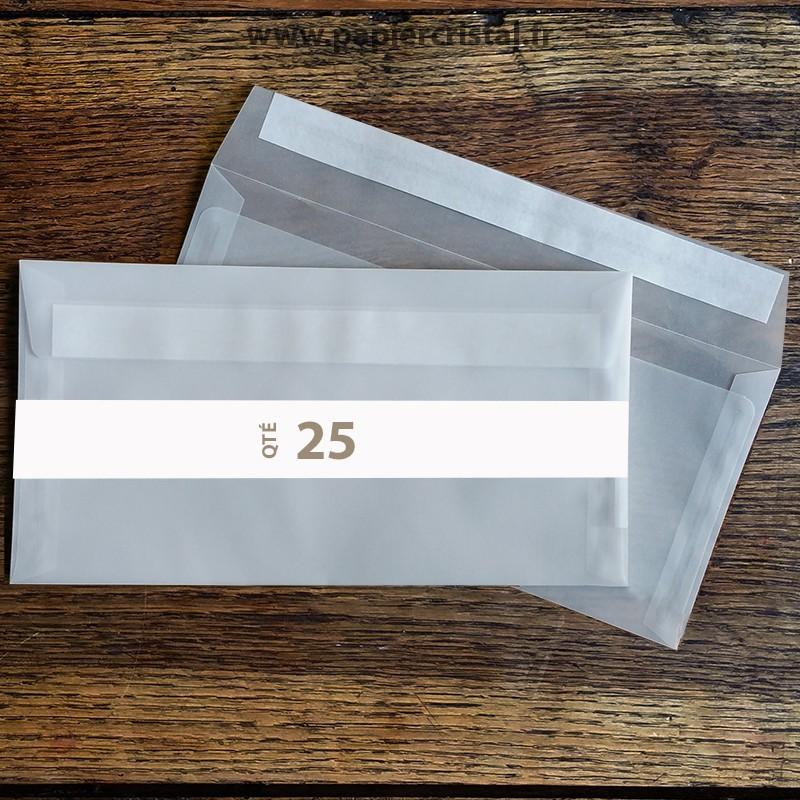 Enveloppes cristal adhésives DL 220 x 110 mm