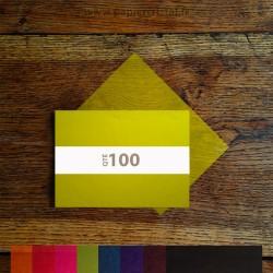 Feuilles papier cristal couleur A5 148 x 210 mm