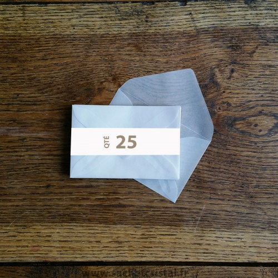 Enveloppes cristal 115 x 75 mm