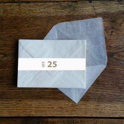 Enveloppes cristal 162 x 114 mm