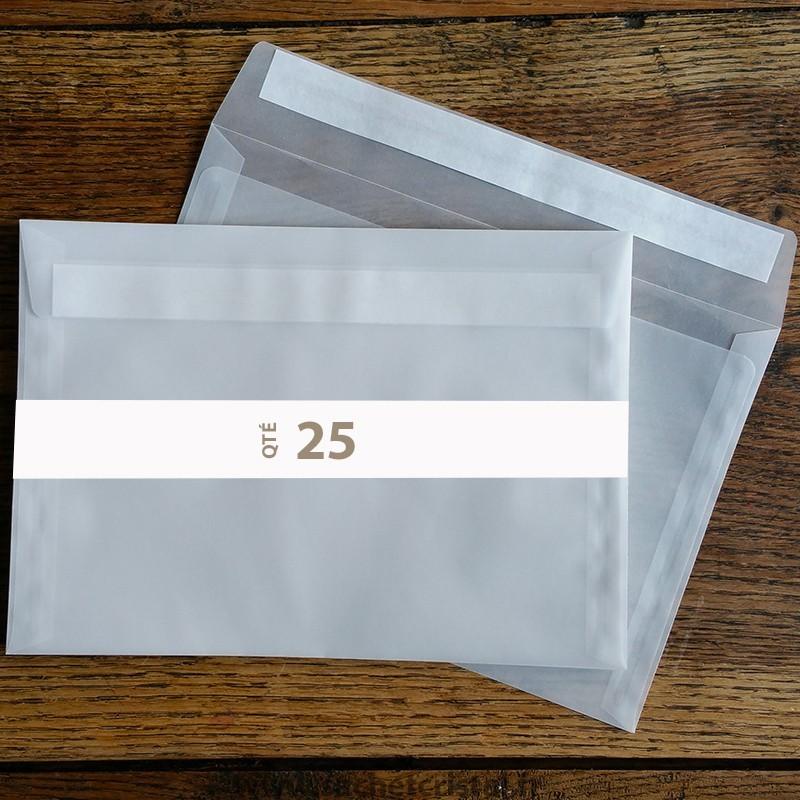 Enveloppes cristal 229 x 162 mm