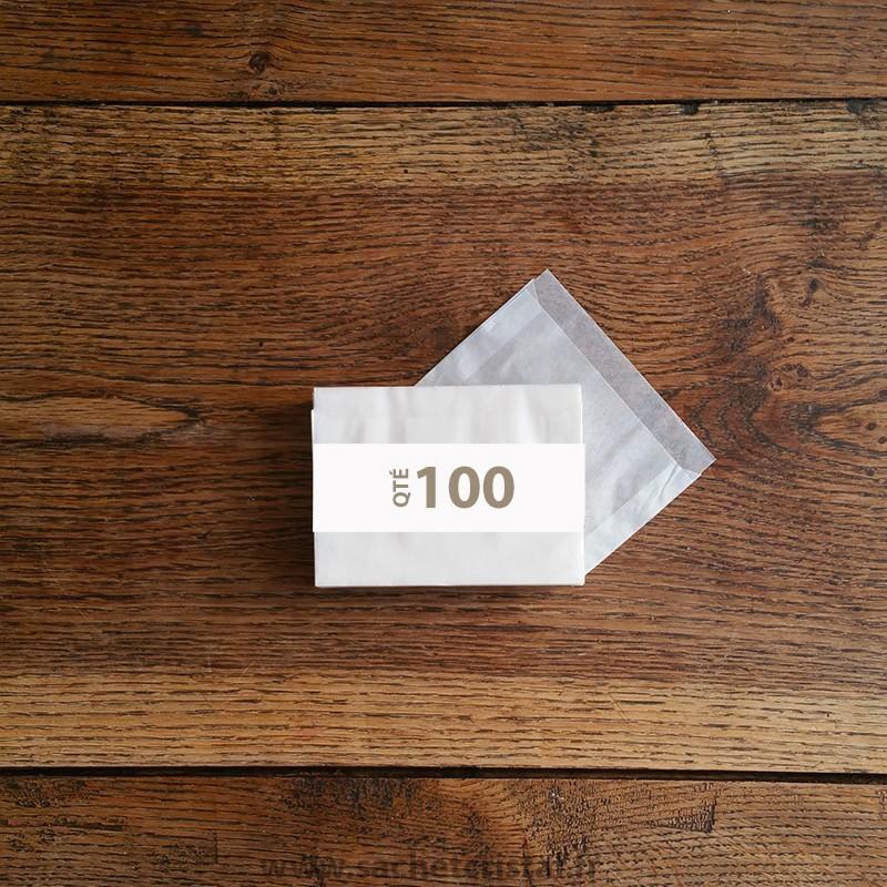 Pochettes cristal 110 x 70 rabat 10 mm