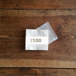 Pochettes cristal 95 x 95 rabat 10 mm