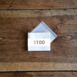 Pochettes cristal 100 x 70 rabat 10 mm