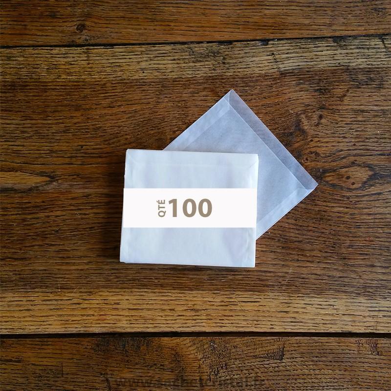 Pochettes cristal 125 x 95 rabat 10 mm