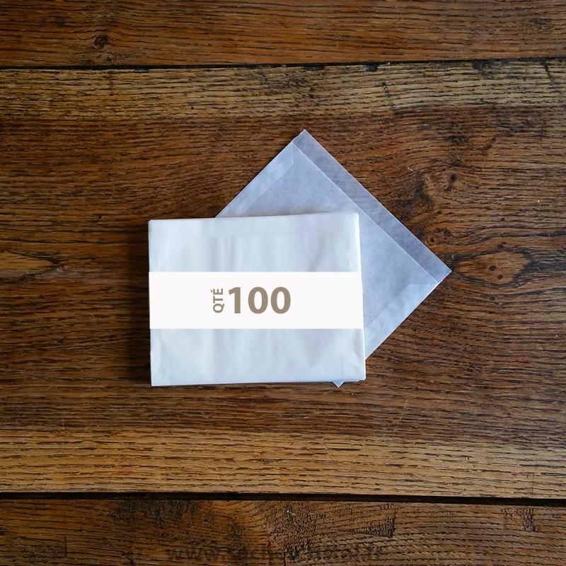 Pochettes cristal 135 x 95 rabat 10 mm