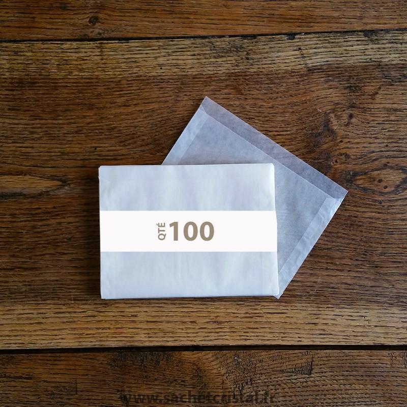 Pochettes cristal 155 x 105 rabat 10 mm