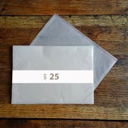 Pochettes cristal 330 x 255 rabat 10 mm